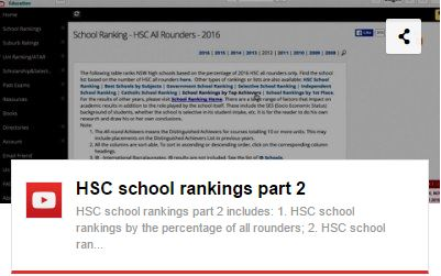 HSC school ranking part 2 youtube video